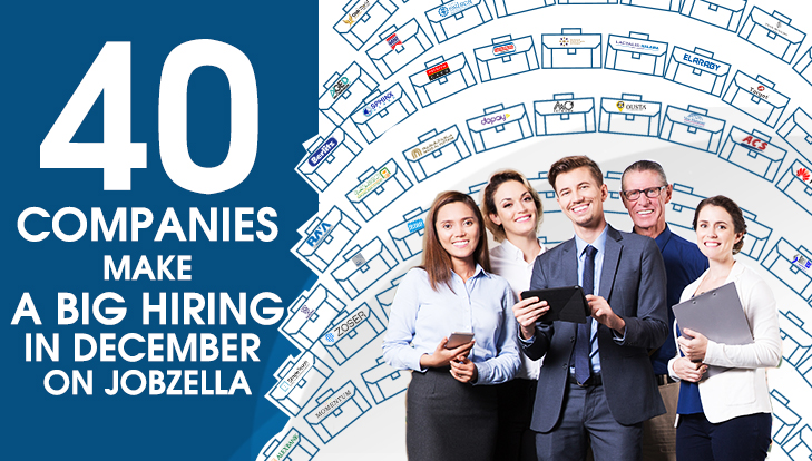 40 Companies make a big hiring in December on Jobzella