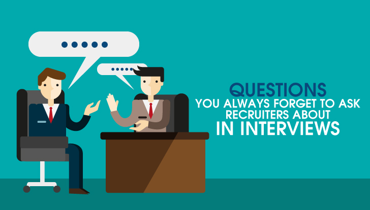 6 Questions you always forget to ask recruiters about in interviews.