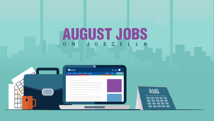August Jobs on Jobzella!