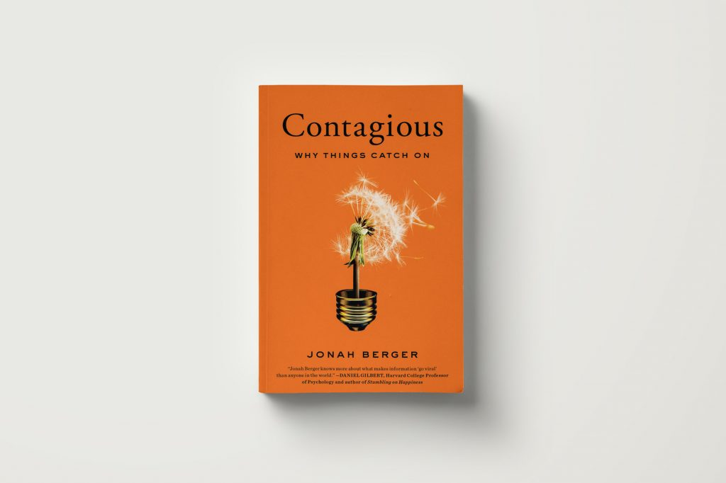 New year's resolution to boost your career life - become a bookworm and read contagious by Jonah Berger
